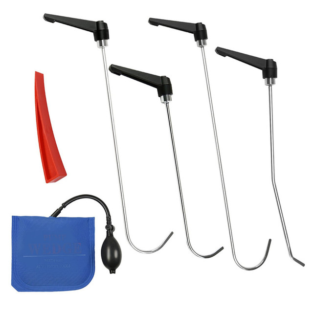 PDR Rods Dent Remover Tools Paintless Dent Repair Tools PDR Tools Kit Hail Damage Removal Car Ding Rod Hook pump wedge