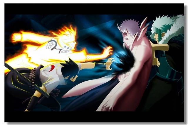 Custom Canvas Wall Painting Uzumaki Naruto Poster Naruto Manga Wallpaper Anime Wall Sticker Mural Living Room