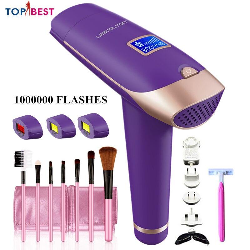Lescolton Laser Hair Removal Machine 1000000 Flashes Epilator Quartz Lamp Hair Removal Permanent Bikini Trimmer Epilator