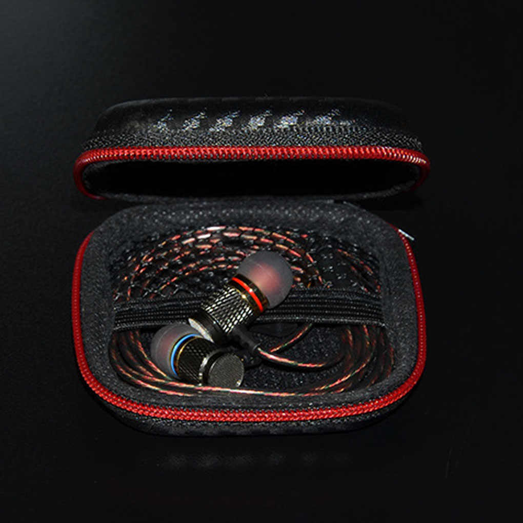 Portable Case for Headphones 1Pc Case Mini Zippered Round Storage Hard Bag Headset Box for Earphone Case SD TF Cards Earphone