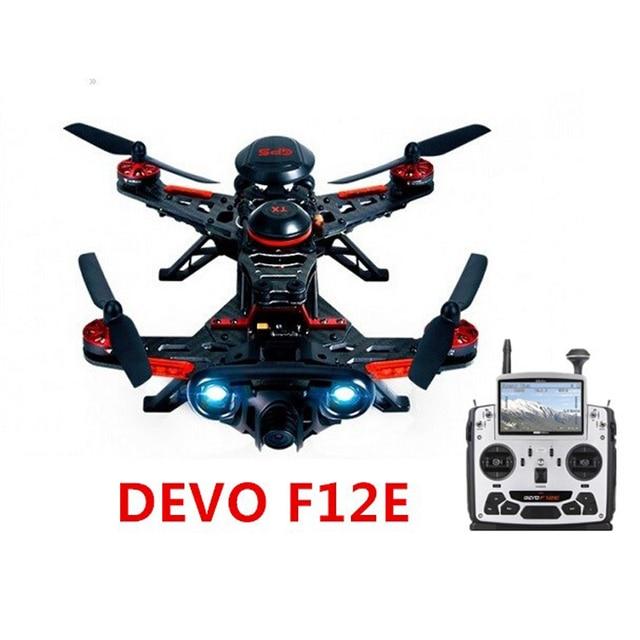 Бегун 250 Предоплата С DEVO F12E Передатчик FPV Walkera FPV RC Drone Мультикоптер с/OSD/1080 P Камеры/GPS 11 версия RTF