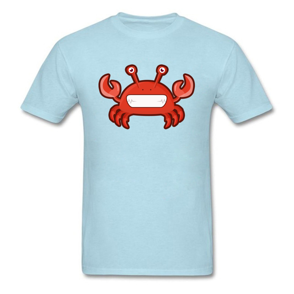 T Shirt Kawaii Crab Tops Shirt Summer Autumn 2018 Street Short Sleeve Pure Cotton Crewneck Men Tshirts Street Drop Shipping Kawaii Crab light