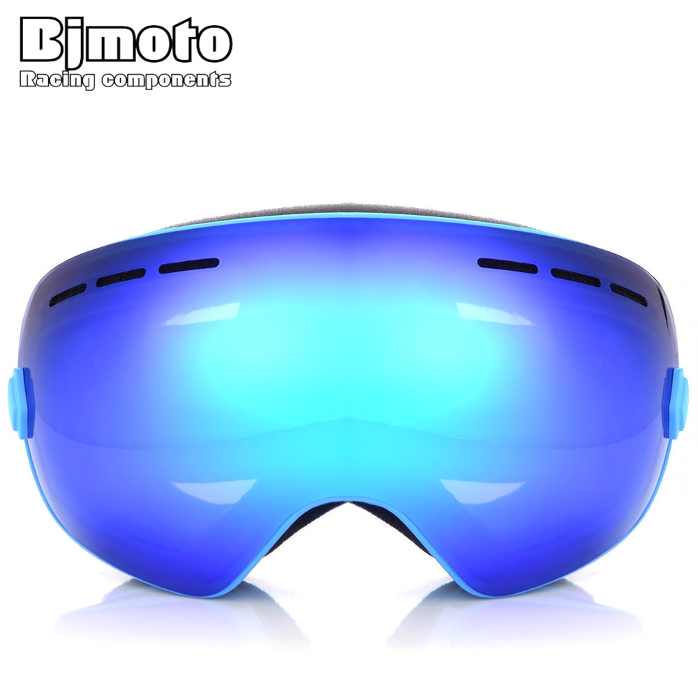 BJMOTO Men Women Ski Goggles UV 400 Anti-Fog Ski Eyewear Winter Snowboard Glasses Skiing Goggles Snowboarding Glasses 7 Colors