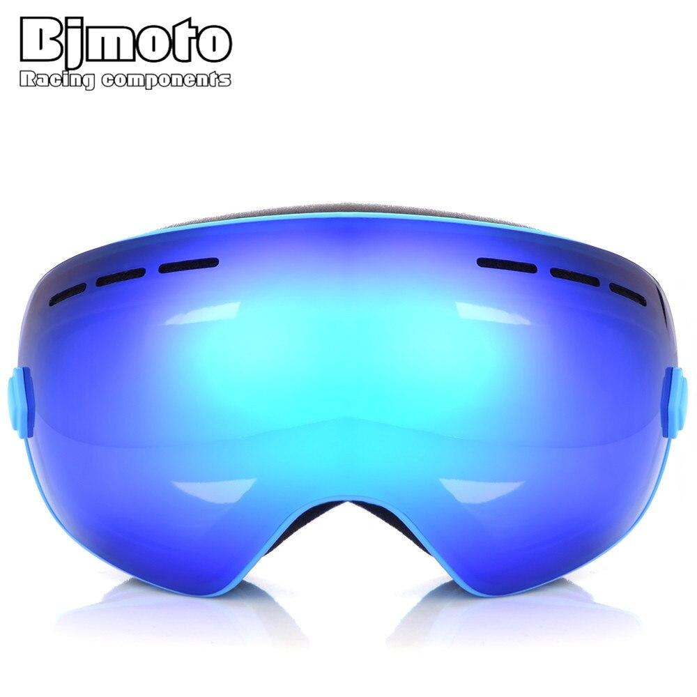 Bjmoto Для мужчин Для женщин лыжные очки УФ 400 Анти-Туман Лыжные очки зима сноуборд Очки Лыжный Спорт очки Сноубординг Очки 7 цветов