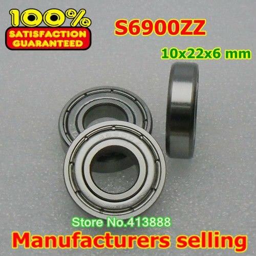Высокое качество нержавеющая сталь подшипника SS6900ZZ S6900-2Z 6900 S6900 S6900Z S6900ZZ S61900ZZ 10*22*6 мм 440C материал