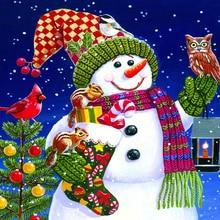 Full square/Round drill Diamond embroidery Snowman 5D DIY diamond Painting Cross Stitch Rhinestone Mosaic HYY diy diamond mosaic color deer diamond painting full square round diamond embroidery cross stitch handmade rhinestone