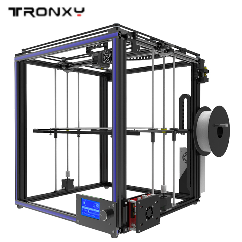 DIY 3D Printer Kit Large printing size 330*330*400mm High Precision With LCD display and SD card reader 1 Rolls Filament as gift ship from european warehouse flsun3d 3d printer auto leveling i3 3d printer kit heated bed two rolls filament sd card gift