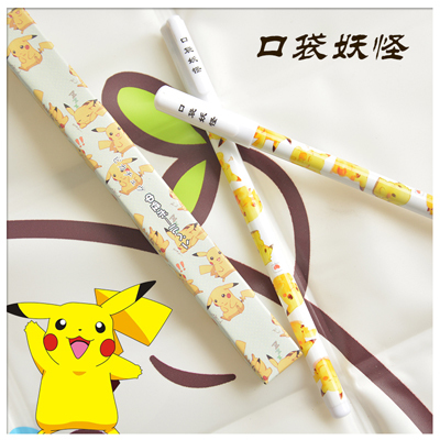 6pcs Japanese anime Cute creative Pikachu black Gel pen signing pen Anime around Each is individually packaged