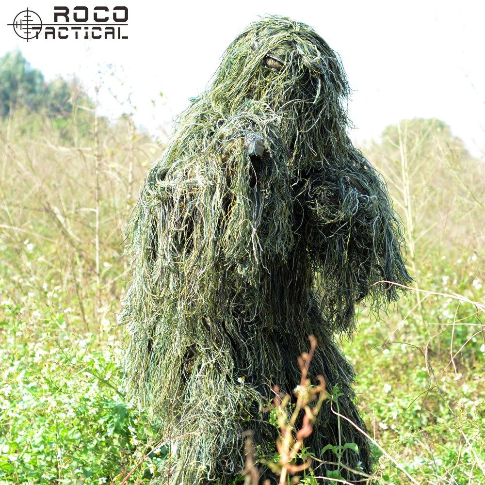 Trasporto Libero US Army Bionico Sniper Ghillie Suits Camouflage Erba Tela Caccia Recon Suit Yowie Paintball Militare Abbigliamento