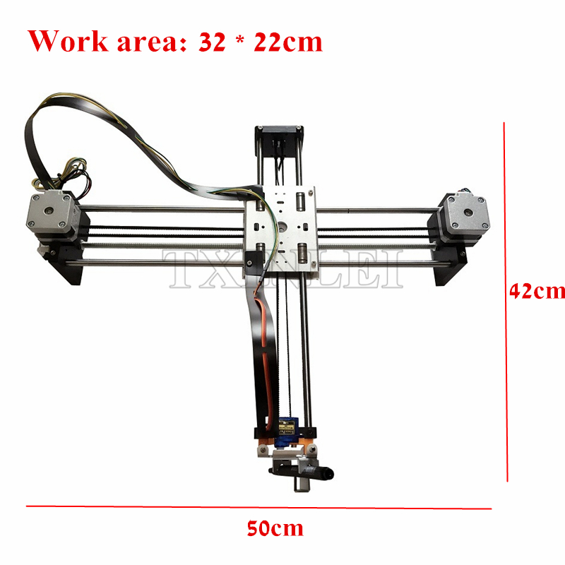 DIY Smart Writing Drawing Robot Mini XY 2 Axis CNC Pen Plotter Machine Advanced Toy Stepper Motor Drive Inkscape 32*22cm