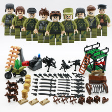 2018 Military CS Commando Soldiers LegoINGlys Action Figures With Weapons City Swat Army Sets WW2 Guns Blocks Toys World War II(China)