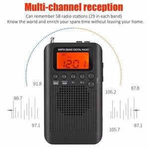 Image 2 - Jinserta 휴대용 미니 fm/am 라디오 스피커 음악 플레이어 알람 시계 lcd 디지털 디스플레이 지원 배터리 및 usb 전원