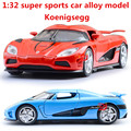 1:32 сплава автомобилей Koenigsegg высокая моделирования модель автомобиля, металл diecasts, игрушечных автомобилей, вытяните назад и мигает и музыкальные, бесплатная доставка
