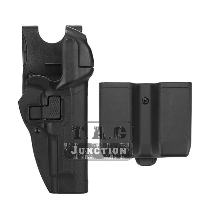 Serpa Level 3 Auto Lock Right Hand Waist Pistol Holster w/ Jacket Slot Duty Belt Loop & Magazine Pouch for Beretta 92 96 M9 M92 emerson safariland tactical dropleg holster for beretta m92 airsoft with flashlight holster bd2293