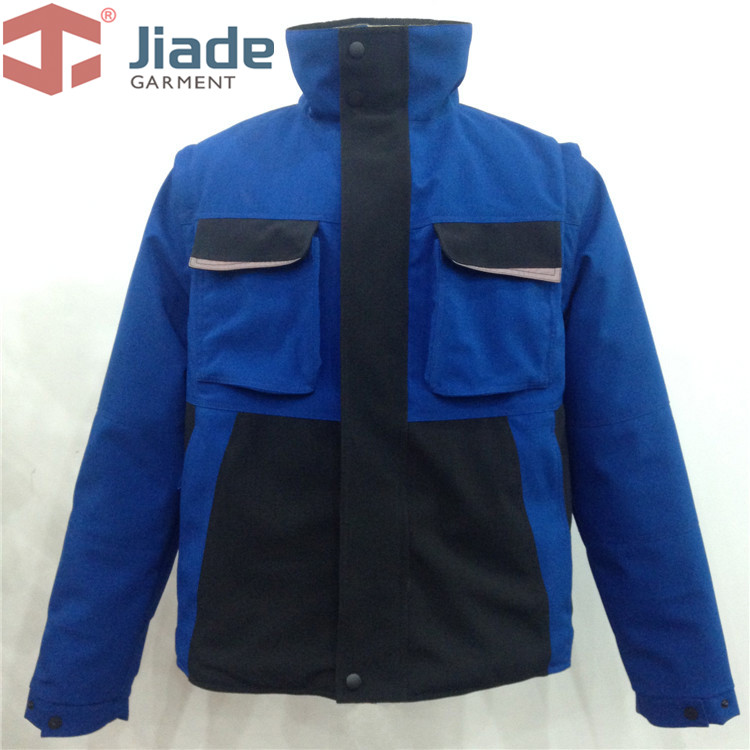 Jiade Men's Work Wear Winter Jacket Reflective Winter Jacket High Visibility Winter Jacket Measures of sleeve