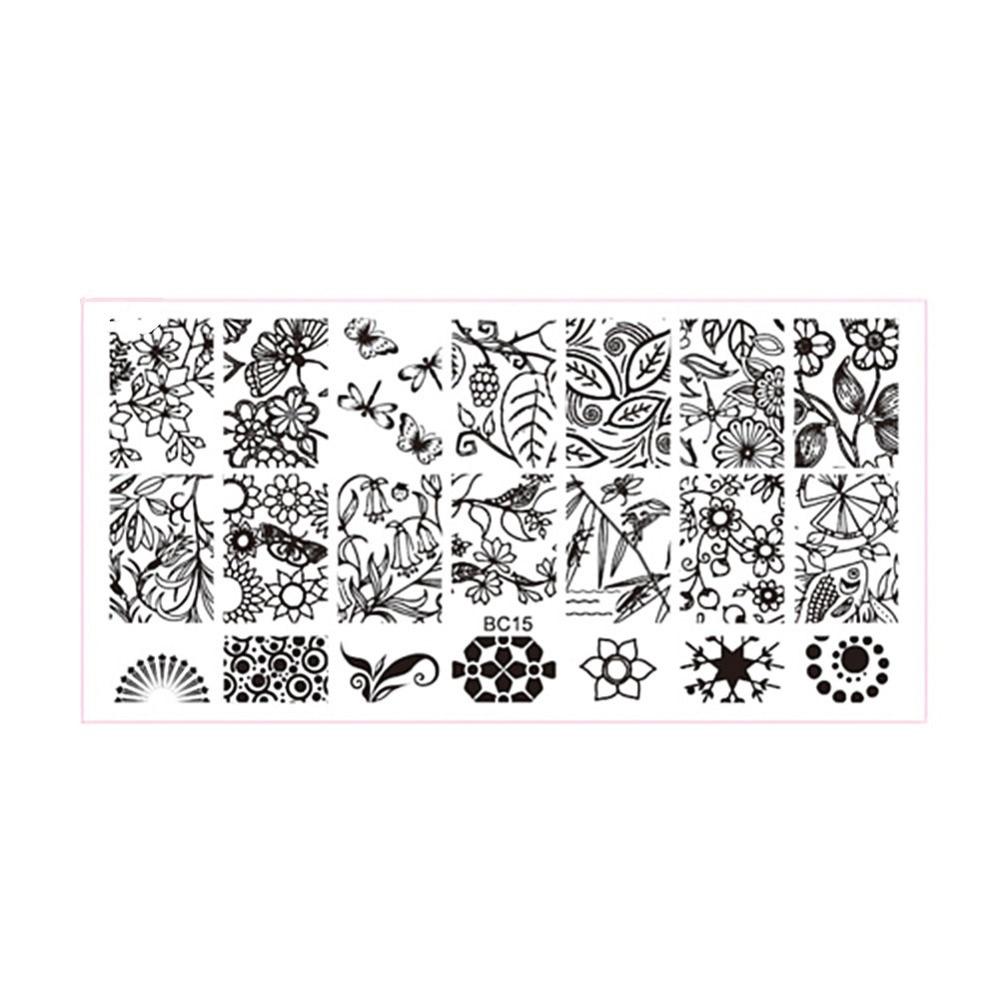 Schmetterling Frühling Libelle Nail Stamping Platten Nail art ...