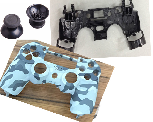Camo Shell face Camouflage Housing Case Cover Front+R1 L1 Key Holder inner frame Support for PS4 Controller DualShock 4 Repair