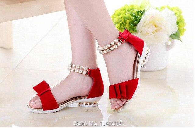 8f1df702c2299 2016 New Children Sandals Girls Sandals Summer Fashion Princess Lovely  Pearl Design Kids Sandal Girls Shoes BOW
