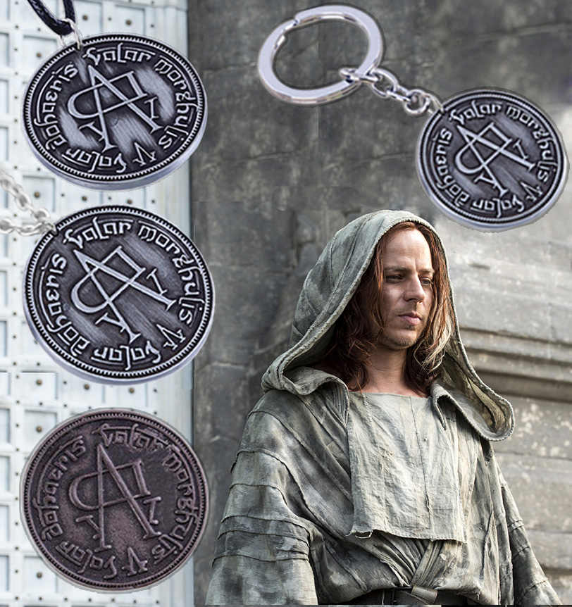 Roestvrij Staal!! Game Of Thrones Arya Stark Jaqen H'ghar Valar Morghulis Faceless Man Coin Movie Hanger Ketting Sieraden