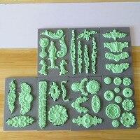 フォンダンシリコーン型ケーキ金型sugarcraftケーキ飾る金型ロワイヤルミクストメディア粘土食品グレード:アートの装飾金型