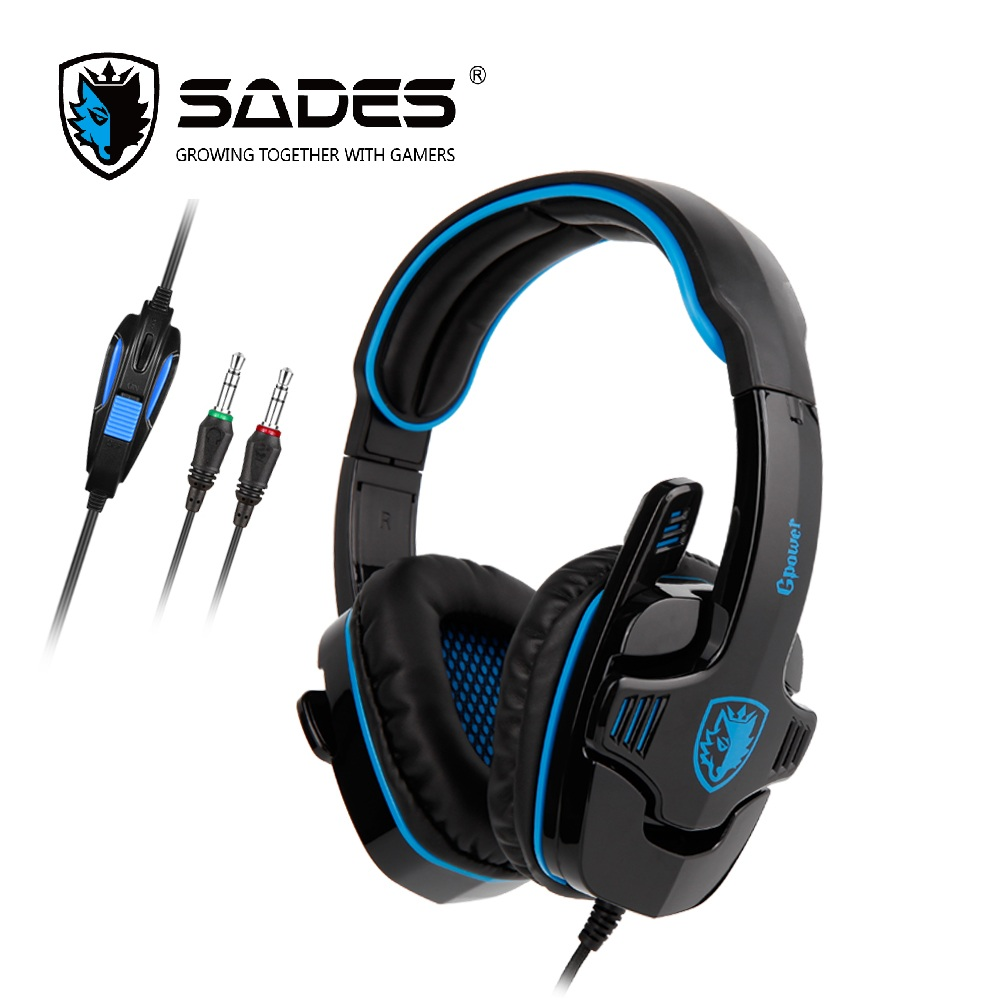 SADES GPOWER Gaming Headset 3.5mm Gamer Headphones Stereo Sound omnidirectional Mic For PC/PS4