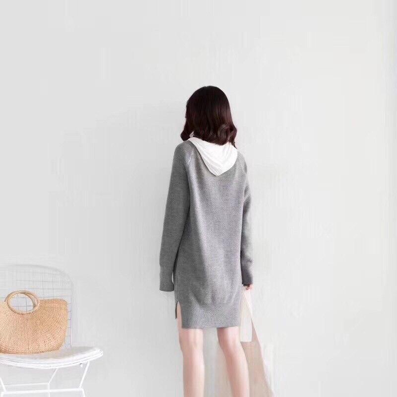 Lâche Longues Col Robe Nouveau Printemps 2019 À Manches Loisirs Pull Tricoté pYzHnvtq