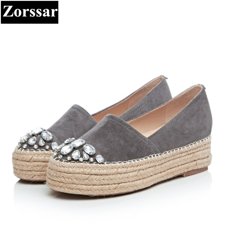 {Zorssar} 2017 Fashion rhinestone Suede Womens Flats leisure shoes Female Casual shoes Flat Platform loafers moccasins women плиткорез электрический купить в томске
