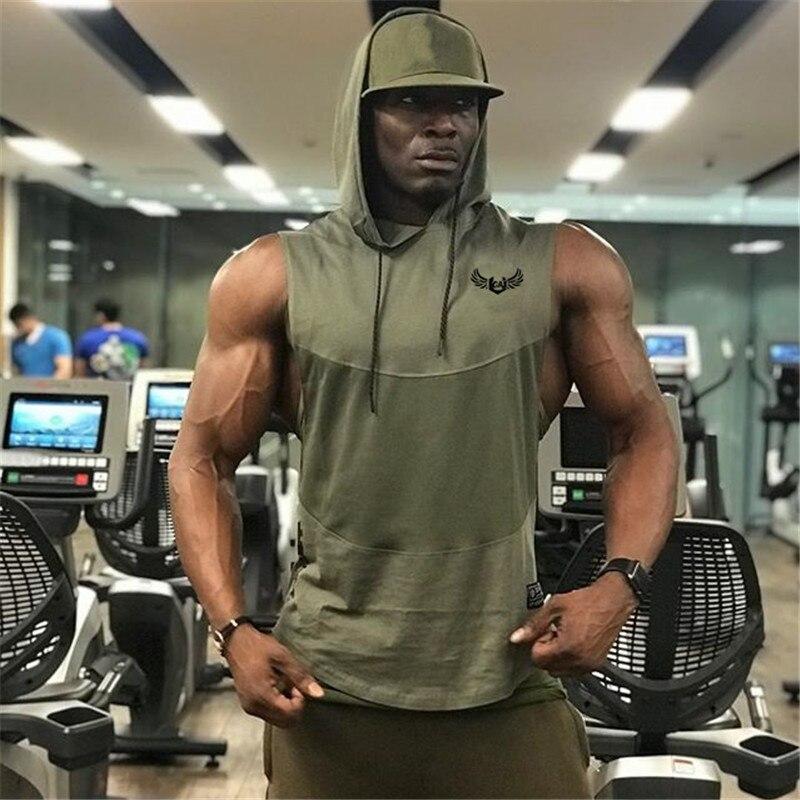 Stile di estate uomo canotte palestre Per Il Fitness Bodybuilding senza maniche Canotta Stringer canotte gilet Moda Casual sportswear