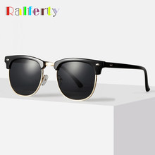Ralferty Retro Sunglasses Men Women 2019 Rivet Square UV400 Black Colored Sun Glasses Male Sunglases Cheap Dropship NO LOGO X828(China)