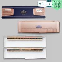 Recommended Korea Mei Jie Le Rose Gold Solid Color Paint 24 Color Set With Bulletproof Glass Color Box