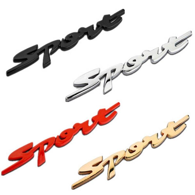 3D Металл Спорт сбоку крыло эмблема задний багажник знак наклейка Стикеры для Honda VW Ford Toyota Kia Chevrolet Fit Универсальный