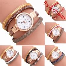 Fashion Wave Point Analog Quartz Watch Women Leather Band Watch Bracelet Wat #3354 Brand New High Quality Luxury Free Shipping
