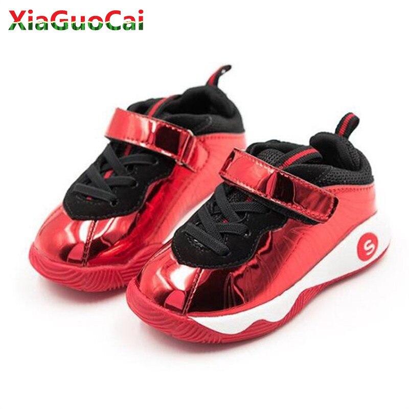 2018 New Arrivals Children Sneakers Hook&Loop Kids Leather Running Shoes Outwear Waterproof Boys Girl Sports School Shoes A15 10