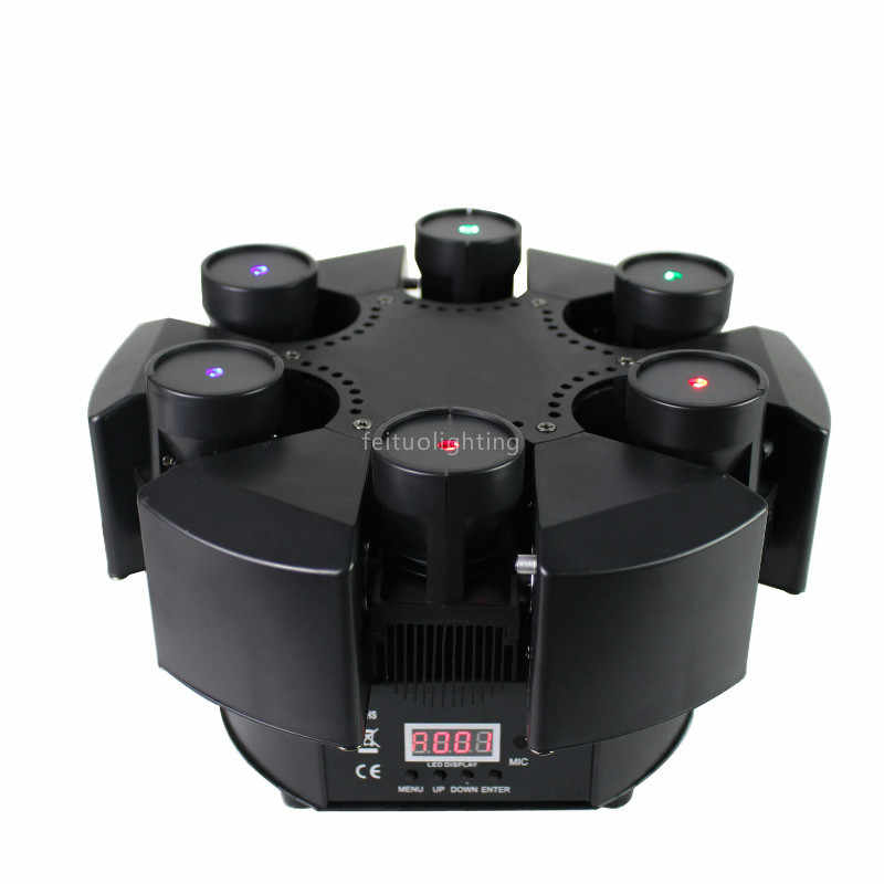 2019 New Smart 6 Heads Moving Head Beam Laser Light RGB Floral Color Laser Light Projector Unlimited Rotating Disco Laser Light