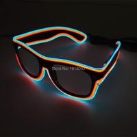 Glowing Glasses 30 pieces Hot EL Wire Glasses Multicolor LED Cold Light Glasses for Holiday Party Lighting Decoration Supplies