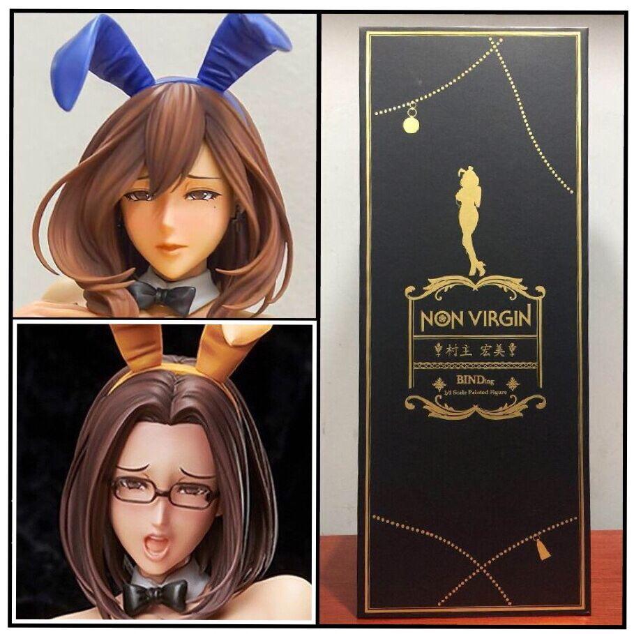 41cm Japanese sexy anime figure Native Non Virgin bunny ver action figure collectible model toys for boys (4)
