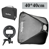 Godox 40 40cm 15 15 Softbox Diffuser With S Type Bracket Bowens Holder For Studio Photo