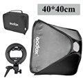 """Godox estudio fotográfico ajustable luz de flash softbox 40x40 cm/15 """"* 15"""" + S tipo Bracket Mount Kit de Iluminación Fotografía Caja de luz"""