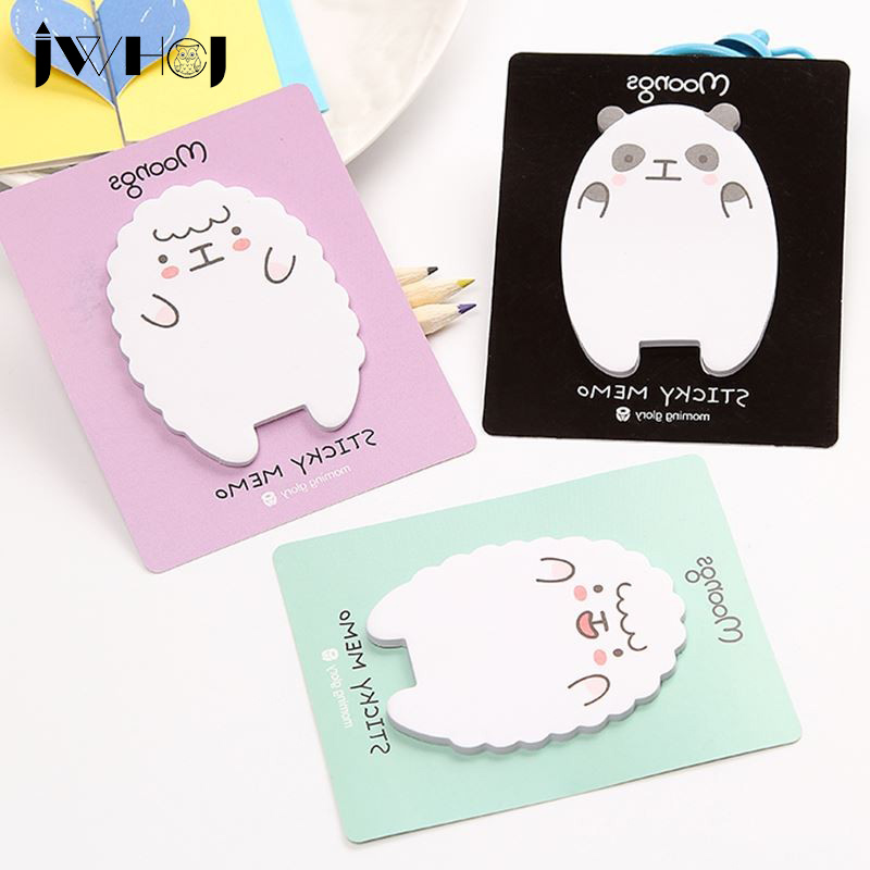 4 pcs/lot children like lamb and bear memo pad paper sticky notes post notepad stationery papeleria school supplies
