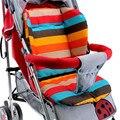 Infantil Baby Stroller Pram Pushchair Almofada Do Assento Mat Algodão Rainbow Color Macio e Espesso Almofada Cadeira Almofada Do Assento de Carro BB