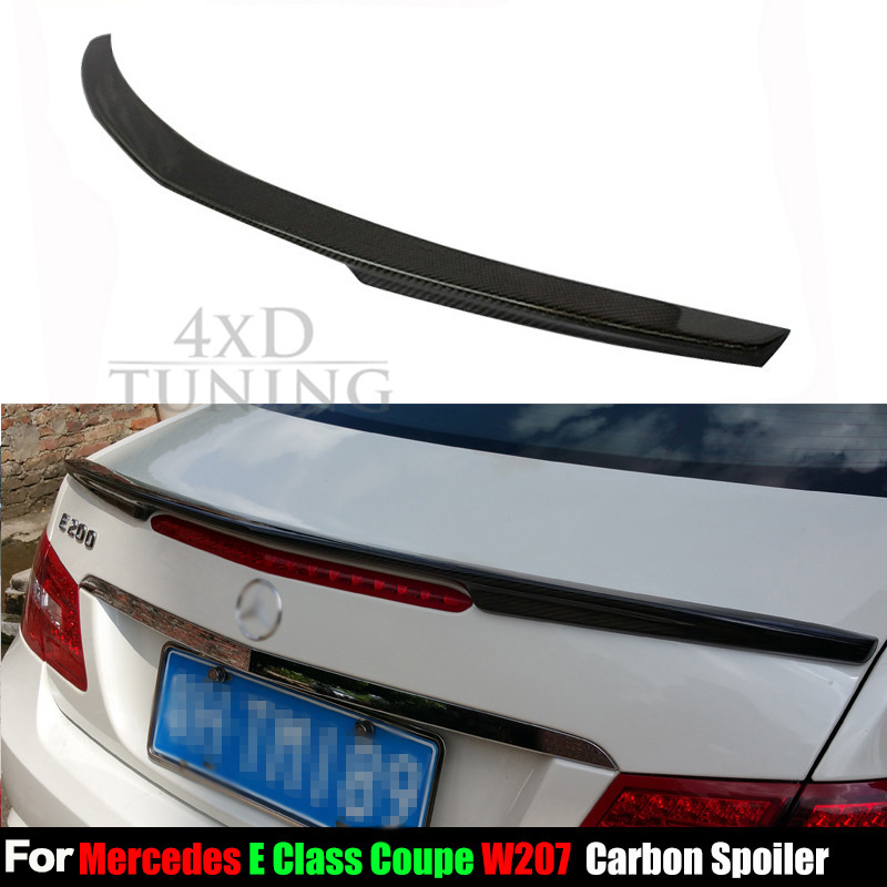 For Mercedes Carbon Spoiler AMG Style E Class W207 C207 Carbon Fiber Rear Trunk Wing Rear Spoiler Coupe 2-doors car 2010 - 2016 vw replacement genuine carbon fiber rear trunk spoiler wing back rear spoiler for volkswagen passat 2011 2015 car styling