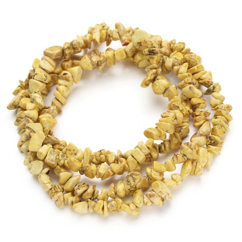 1 strang natrliche kies schmuck zubehr gelb natrliche lose perlen halbedelstein distanzscheibenkorn diy neckalcechina - Kies Garten Gelb