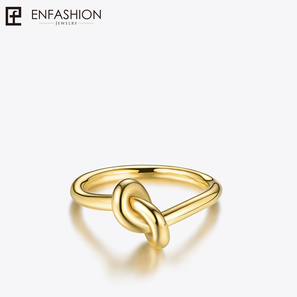 Enfashion Wholesale Knot Rings Stainless steel Rose Gold color Midi Ring Fashion Knuckle Rings For Women Jewelry Bagues Anillos 4pcs of alloy knuckle rings