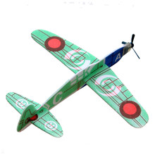 4pcs/lot Funny Polyfoam Throwing Aircraft Glider Plane Air Vehicle Assembled Toy for Kids Children DIY Play Educational Toys(China)