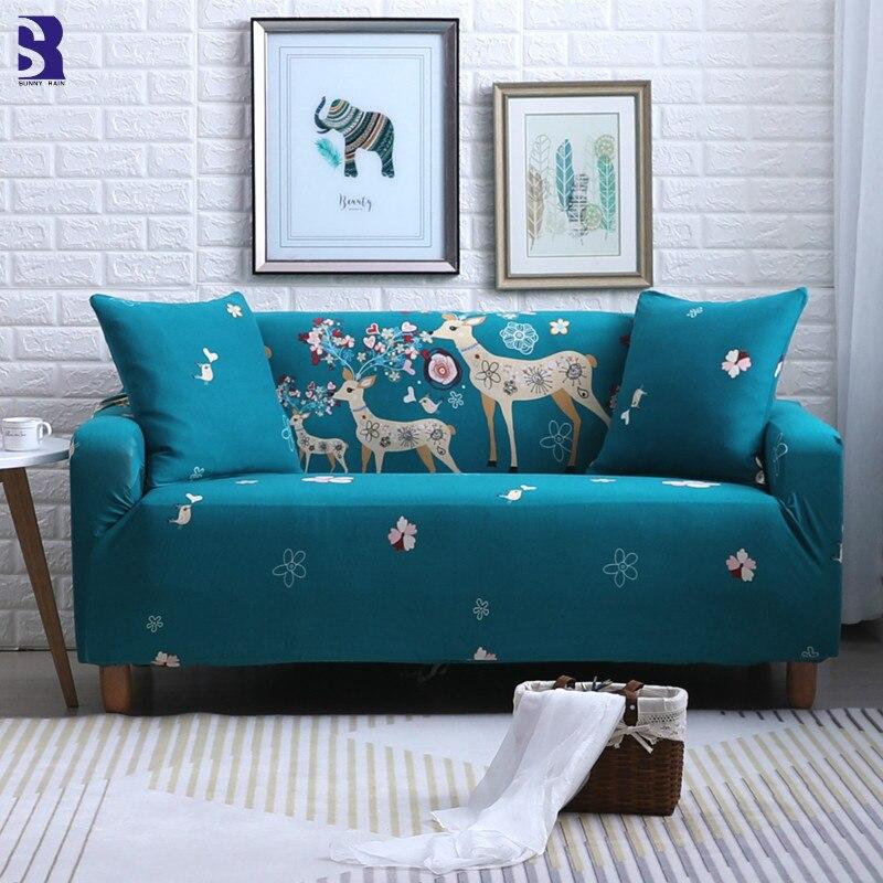 Sunnyrain 1 Piece Cartoon Elastic Universal Couch Covers