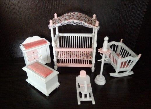 Kinderen meisje giften houten poppenhuis miniatuur toys
