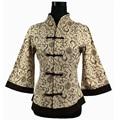 Beige mujeres chinas camisa de lino de algodón hechos a mano botón de la blusa tradicional juego de la espiga superior de gran tamaño sml XL XXL XXXL 4XL 5XL 2218