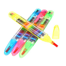 все цены на 12 Pcs Children Painting Toys 20 Colors Wax Crayon Baby Funny Creative Educational Oil Pastels Kids Graffiti Pen Art Gift онлайн