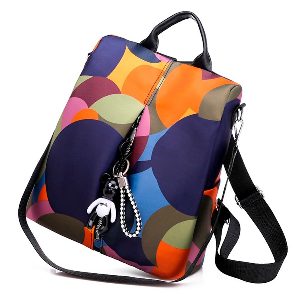 HTB1sn6nNwHqK1RjSZFgq6y7JXXau Casual Oxford Cloth Women Backpack Anti Theft Girls Schoolbags Teenager Travel Daypack Shoulder Bag Colorful Fashion Back Pack