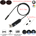 2 M Cable de 5.5mm Endoscopio Usb 6 Led IP67 Impermeable Android OTG de Serpiente Pipe Tube 5 cm 480 P Mini cámara de Vigilancia Cámara de Inspección